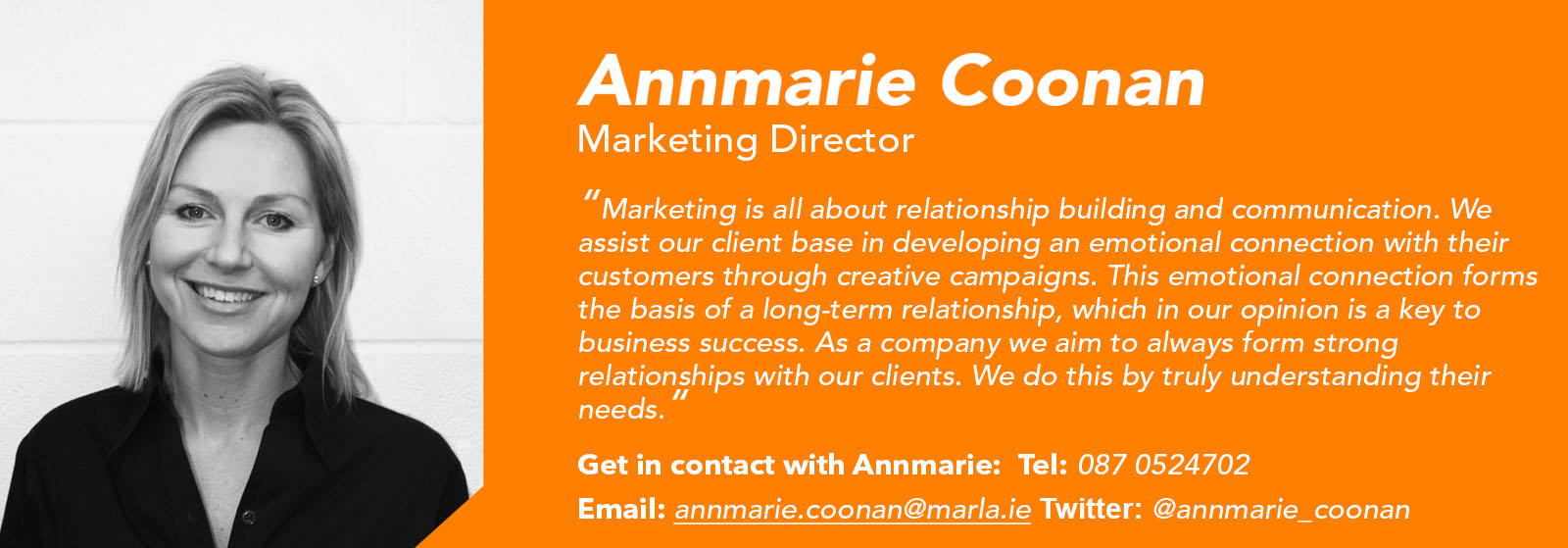 Annmarie Coonan - Marketing Manager - Márla Communications