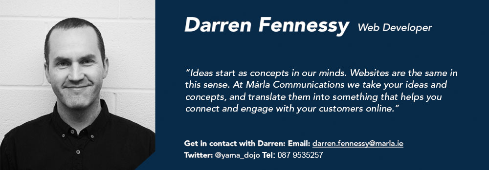 Darren Fennessy - Web Developer - Márla Communications