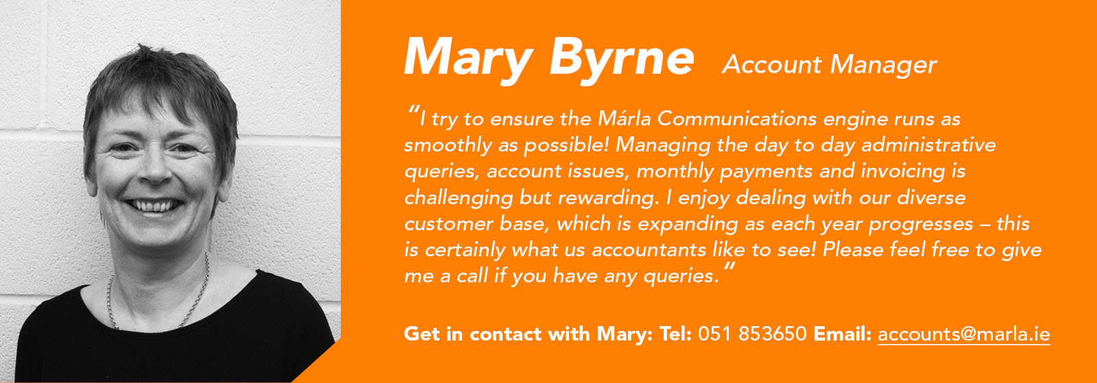 Mary Byrne - Accounts Manager - Márla Communications