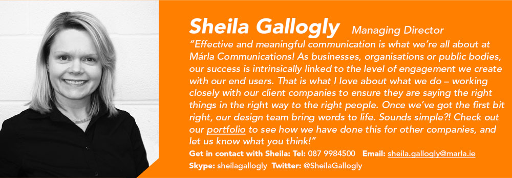 Sheila Gallogly - Managing Director - Marla Communications